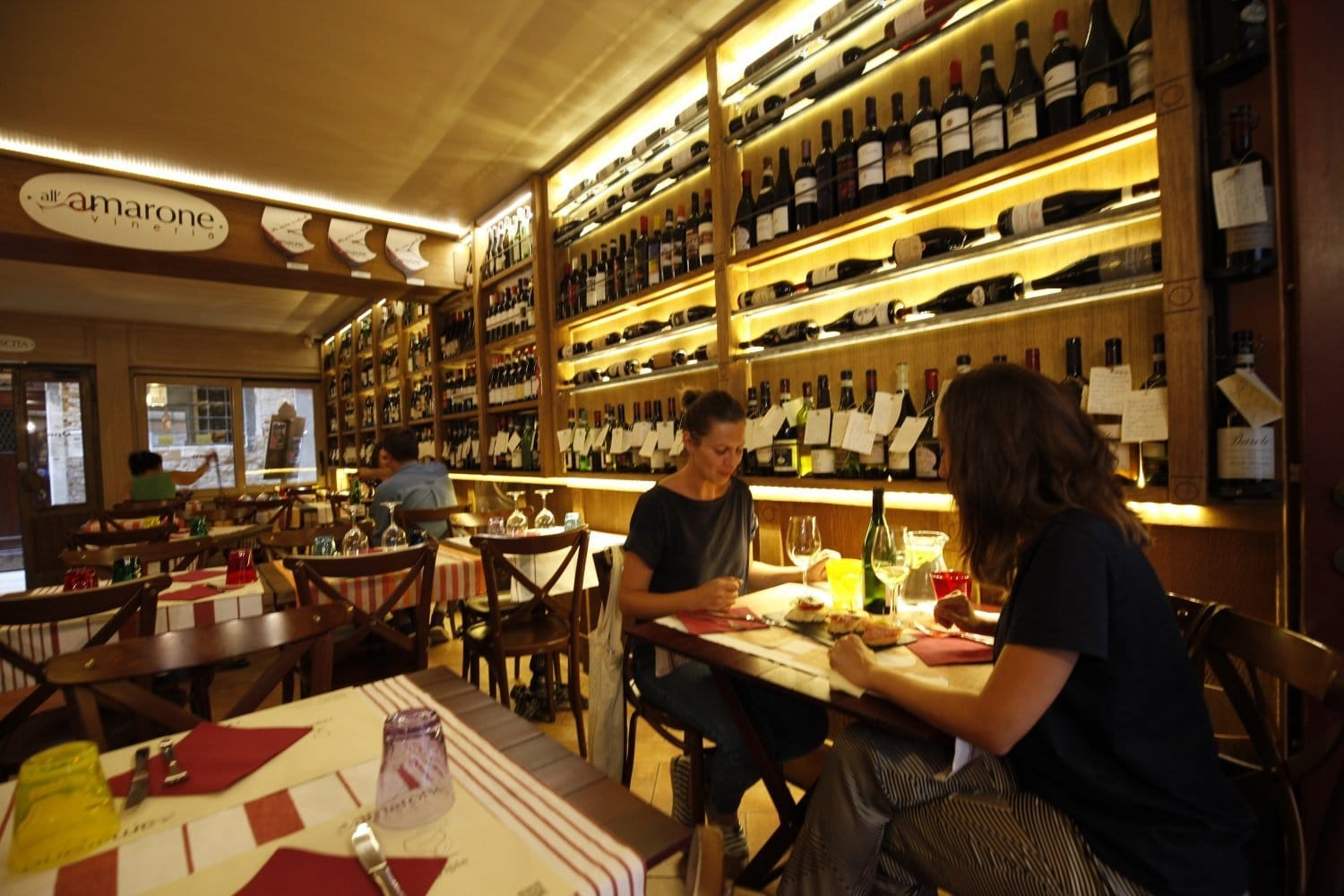 Eating inside at Vineria all'Amarone