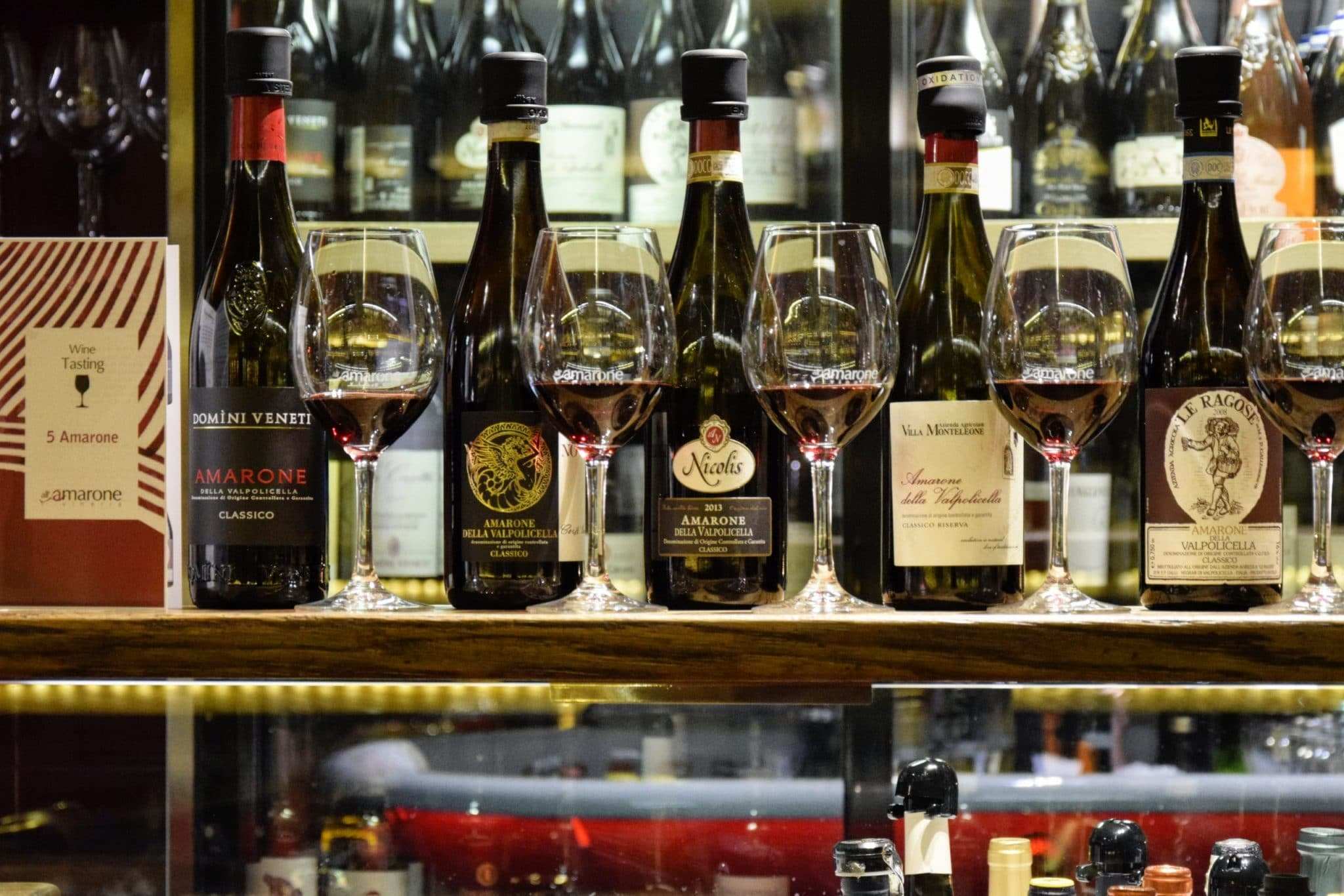 Amarone Wine Flight