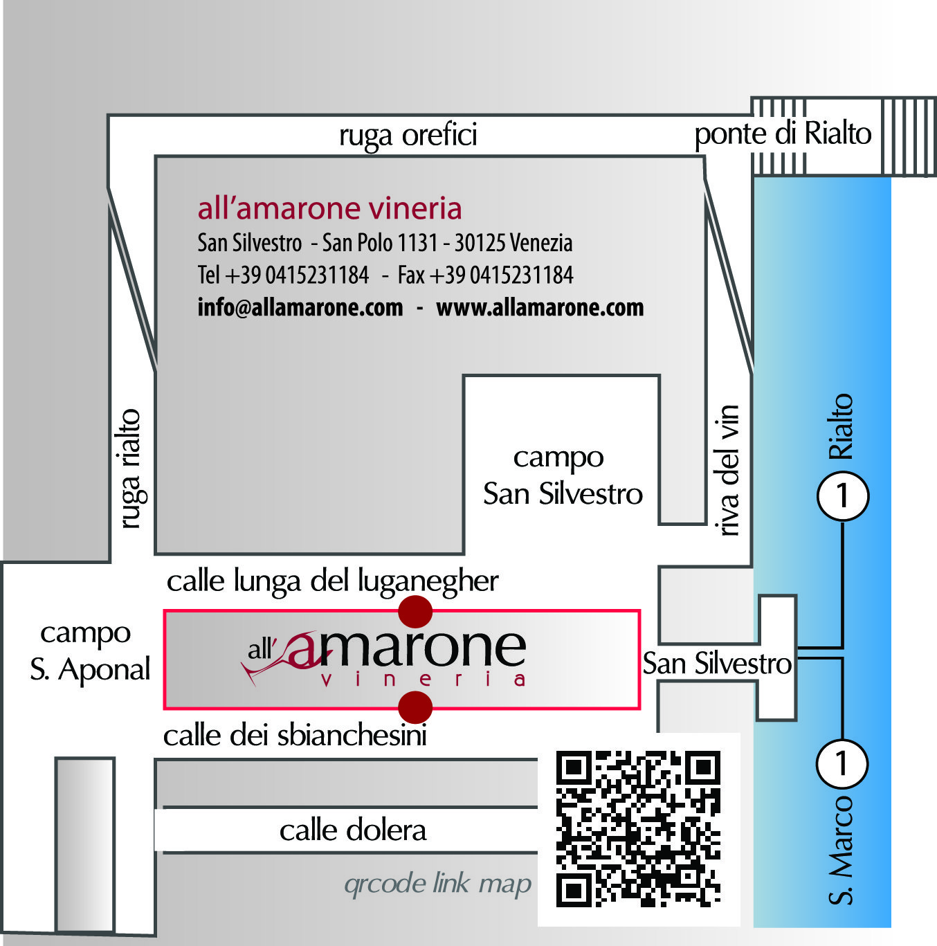 Vineria all'Amarone Location Map